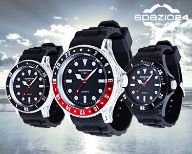Relógios Spazio24® Modelo Fluo Scuba   9 Mostradores Diferentes
