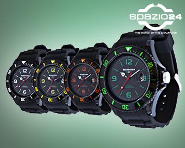 Relógios Spazio24® Modelo Fluo Dark | Escolha a Cor do Mostrador