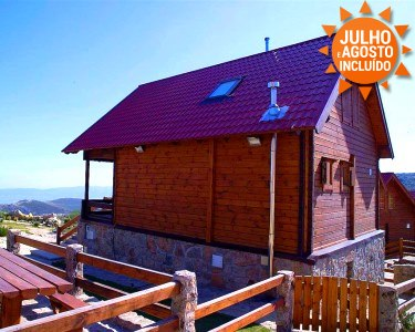 Chalés de Montanha 4* | Noite de Verão na Serra para até 6 Pessoas