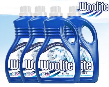 Woolite® Extra Brancos Luminosos | 4 Embalagens - 120 Lavagens