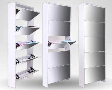 Organizador de Sapatos com Espelho 2 em 1 | Capacidade até 15 Pares