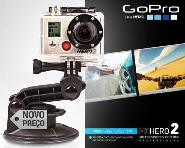 Câmara GoPro HD HERO2 | Inclui Acessórios Moto Edition