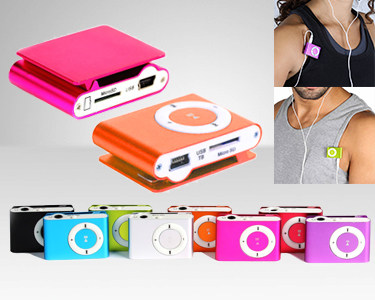 Mini MP3 com Clip | Cores à Escolha