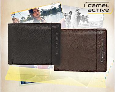 Carteira Camel Active® para Homem   Para Notas e Cartões