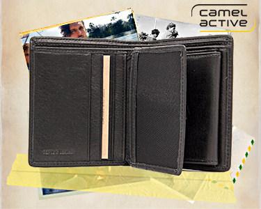 Carteira Camel Active® | Notas, Cartões e Moedas