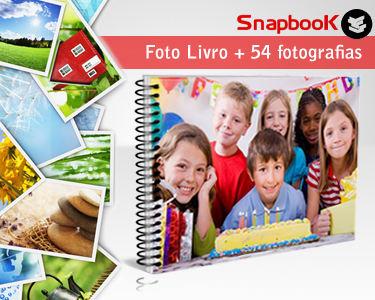Foto Livro 20x30 Espiral 24 Páginas + Impressão de 54 Fotografias
