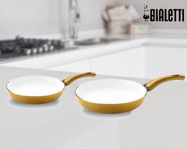 Set 2 Frigideiras Cerâmicas Gold Line da Bialetti®