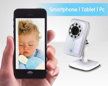 Câmara de Vigilância e Monitorização Wi-Fi | Smartphone, Pc ou Tablet