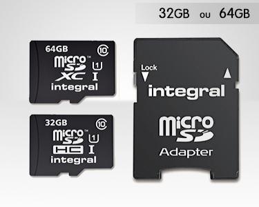 Cartão Micro SD Integral microSDHC 32GB ou 64GB