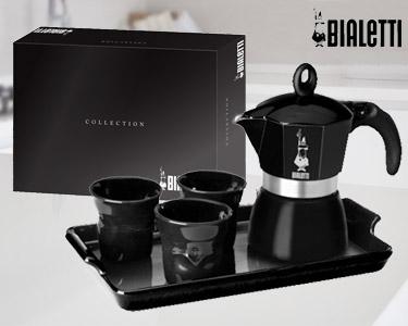 Set Cafeteira Dama Premium com Chávenas e Tabuleiro