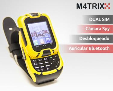 Relógio Telemóvel Desportivo Dual Sim & Auriculares Bluetooth