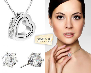 Conjunto Eternity com Swarovski Elements®