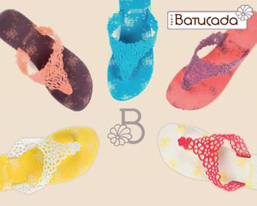 Sandálias Sweet Flower da Batucada®   9 Cores à Escolha
