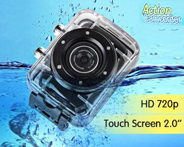 Camara Desportiva de Ação Digital & Impermeável 2.0 HD 720p