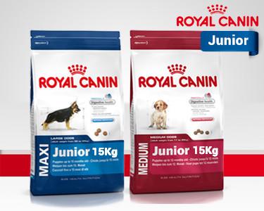 Ração Royal Canin® Maxi ou Medio Junior 15 KG