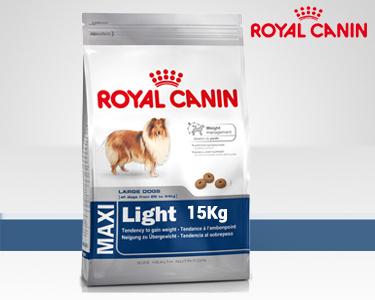 Ração Royal Canin® Maxi Light 15 Kg   A Partir dos 15 Meses de Idade