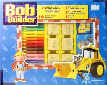 Bob o Construtor | Maxi-Cofre com 7 Carimbos + 12 Canetas + Bloco