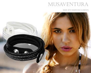 Musaventura | Pulseira Stella com Cristais Swarovski - Escolha a Cor