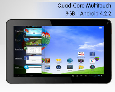 "Tablet PC eStar Zoom 9"" com 8GB Quad-Core Multitouch 
