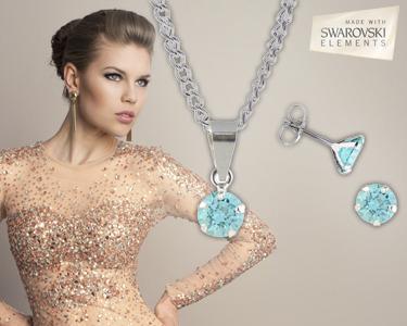 Colar + Brincos Swarovski Elements® Zirconia 6 mm | Escolha a Cor