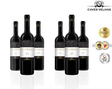 Caixa de 6 Garrafas de Vinho Topázio DOC Douro Tinto