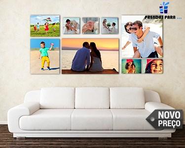 Novo Preço - Tela com Foto 100% Personalizada | 10 Tamanhos à Escolha