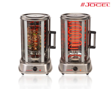 Grelhador Vertical Rotativo 360º Jocel® | Grelhados Perfeitos