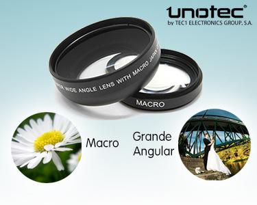 Lentes Macro e Grande Angular para Objectivas Canon 58mm e Nikon 52mm