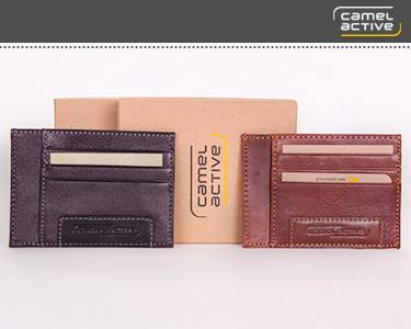 Camel Active®   Porta Cartões e Notas para Homem - Escolha a Cor