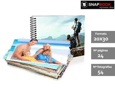 Impressão de 54 Fotografias + Foto Livro 20x30 Espiral 24 Páginas