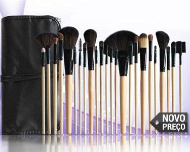 Perfect Make-Up    24 Pincéis Maquilhagem em Bambu + Estojo