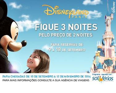 Disneyland® Paris | 3 noites ao preço de 2 | Voos + Hotel + Entradas + Estadia grátis crianças