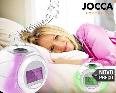 Relógio Despertador com Sons Naturais e 7 Luzes LED Coloridas