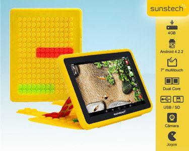 "Tablet Infantil de 7"" + 50 Jogos e Controlo dos Pais  - Escolha a cor"