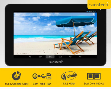 """Tablet 7""""  Dual Core a 1.6GHz / Android 4.4.2 Kit Kat  Qualidade Total"""