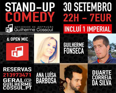 «Stand-Up Comedy» | O Melhor do Humor | Bilhete Duplo - 30 de Setembro