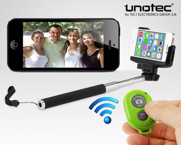 Braço Extensível para Selfies & Comando à Distância Bluetooth