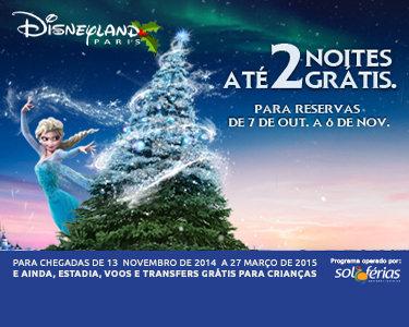 Chegou o Natal à Disneyland® Paris | Voos + 3 Noites ao preço de 2 + Entradas