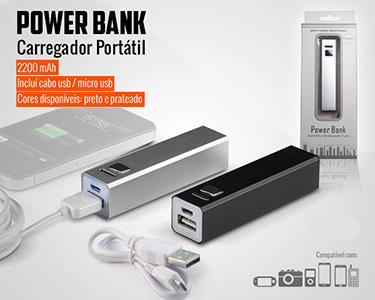 Carregador Portátil e Universal Power Bank