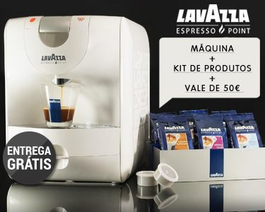 Máquina de Café Expresso Lavazza® & Cápsulas e vale 50€ em Café
