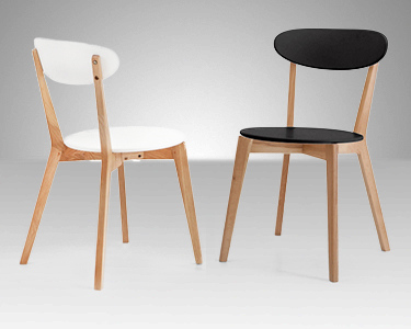 Cadeira Lucy Preto ou Branco | Conforto e Elegância