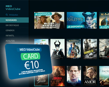 Últimos Dias! MEO VideoClube Card | 10€ para ver os melhores filmes!