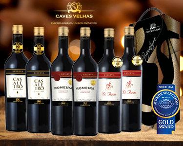 Cabaz 6 Vinhos Nacionais Premiados | Tinto do Alentejo Dão e Tejo