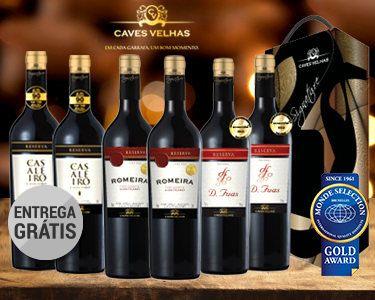 Cabaz 6 Vinhos Nacionais e Premiados   Tinto do Alentejo Dão e Tejo