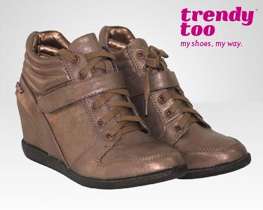 Botins Dourados Trendy Too® | Tamanhos 35 ao 40