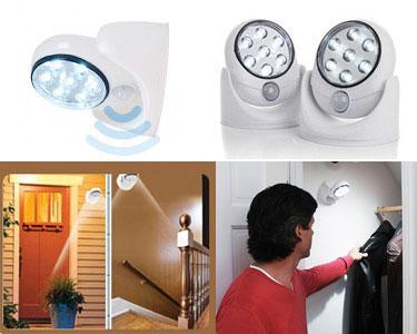 Focos de Luz LED com Sensor de Movimento & Rotação de 360º