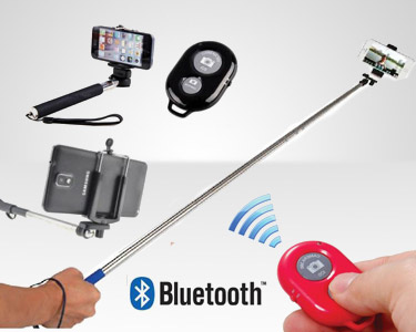 Braço Extensível & Comando à Distância Bluetooth Para as Suas Selfies!