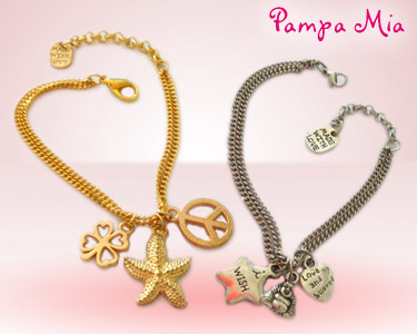 Pulseira Pampa Mia® | Prateada ou Dourada