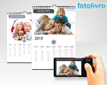 Calendário 2015 Personalizável com 12 Fotos | Formato A4 com Argolas