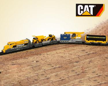 Comboio CAT® Eléctrico | Locomotiva, Carruagens e Pista